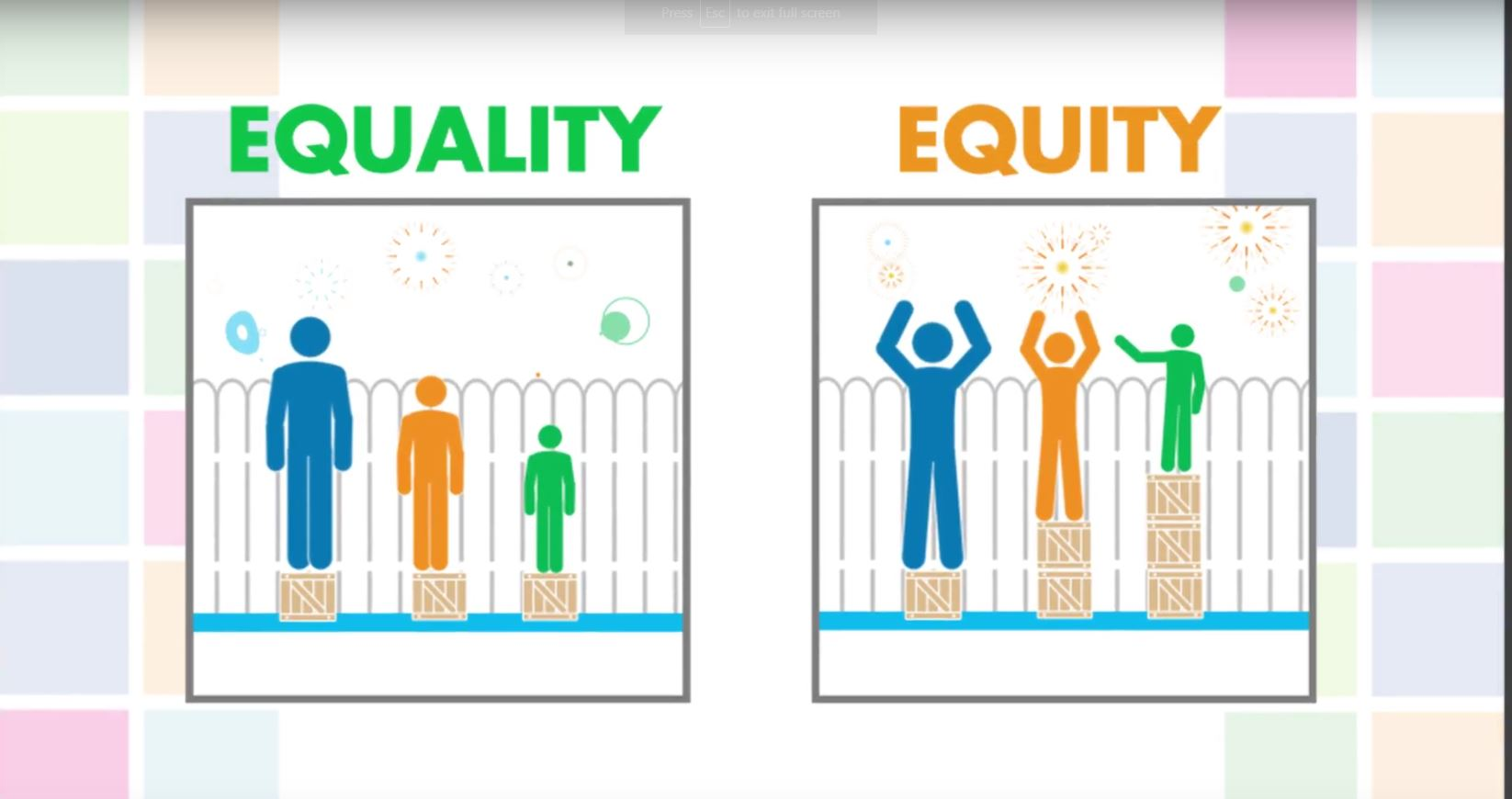 Screenshot from the video GBA+: Equality or Equity?